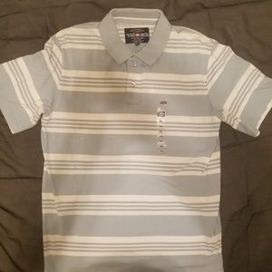 Echo short sleeve striped polo shirt